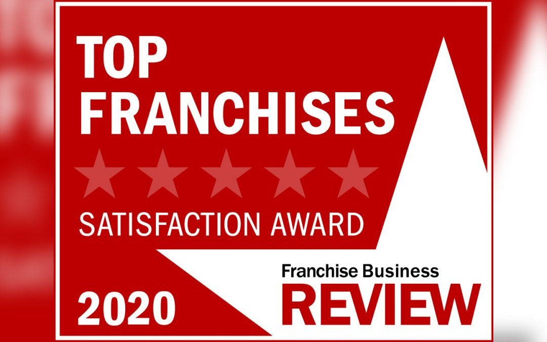 A graphic for the Franchise Business Review Satisfaction Award 2020.